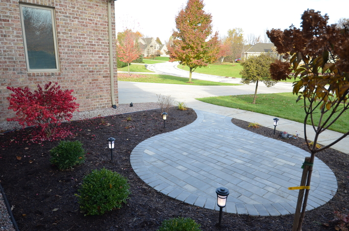 New Brick Seating Area by Integrity Landscape