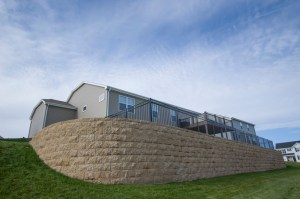 Safety Fence on Top of Retaining Wall by Integrity Landscape