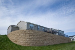 Retaining Wall and Safe Backyard in Milwaukee, WI