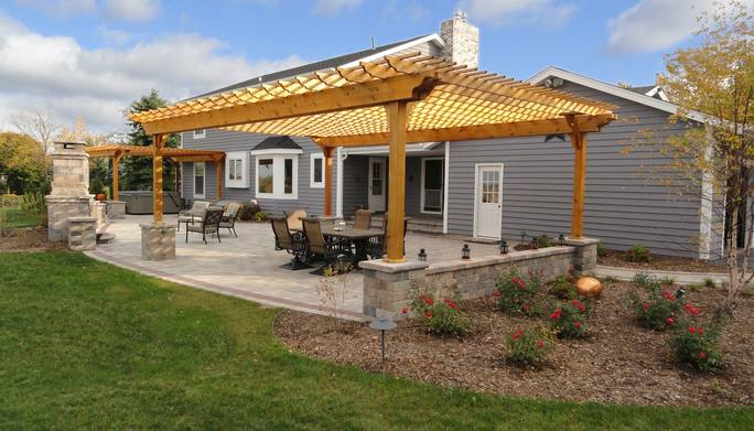 New Pergola & Updated Softscape by Integrity Landscape