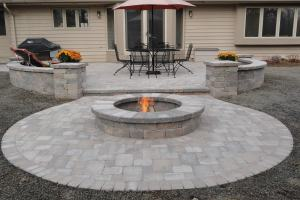 Tiered Patio and Fire Pit in Waukesha WI