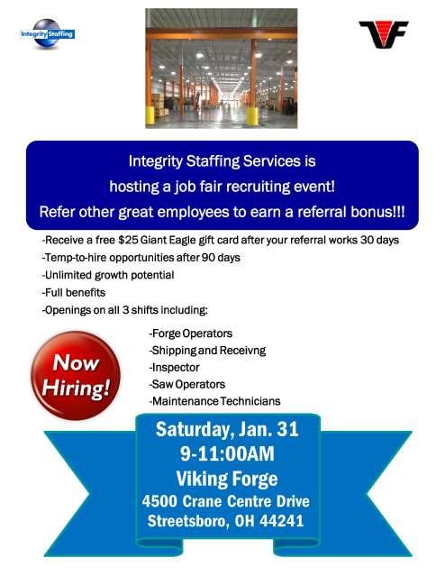 Integrity job fair viking forge