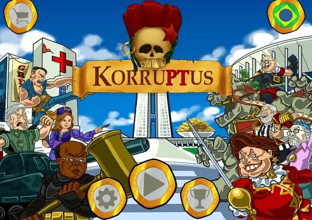 Tela do jogo Korruptus com os rivais em campo
