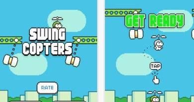 Do mesmo criador de Flappy Bird chegas as lojas virtuais Swing Copters