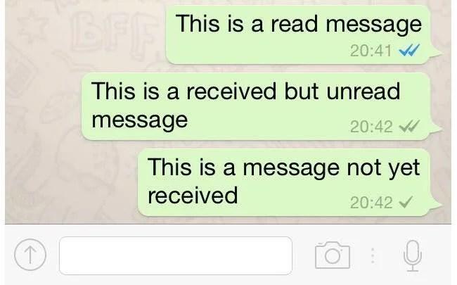 Novo padrão de sinalização do Whatsapp chega para tentar resolver a dúvida do lido ou não de seus mensagens