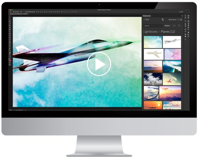 Bigger Collection. Better Selection plugin da Shutterstock para Adobe Photoshop.