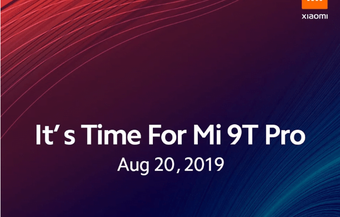 Convite de lançamento do Xiaomi Mi 9T Pro
