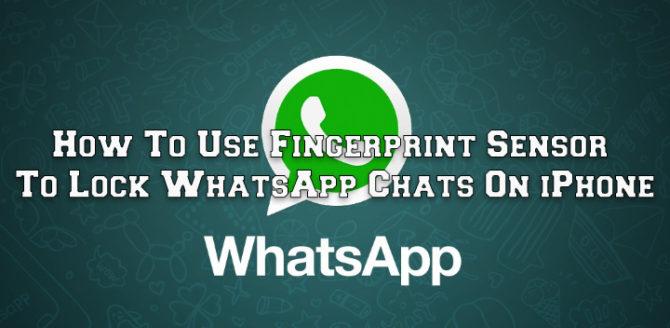 Как использовать датчик отпечатков пальцев для блокировки чатов WhatsApp на iPhone