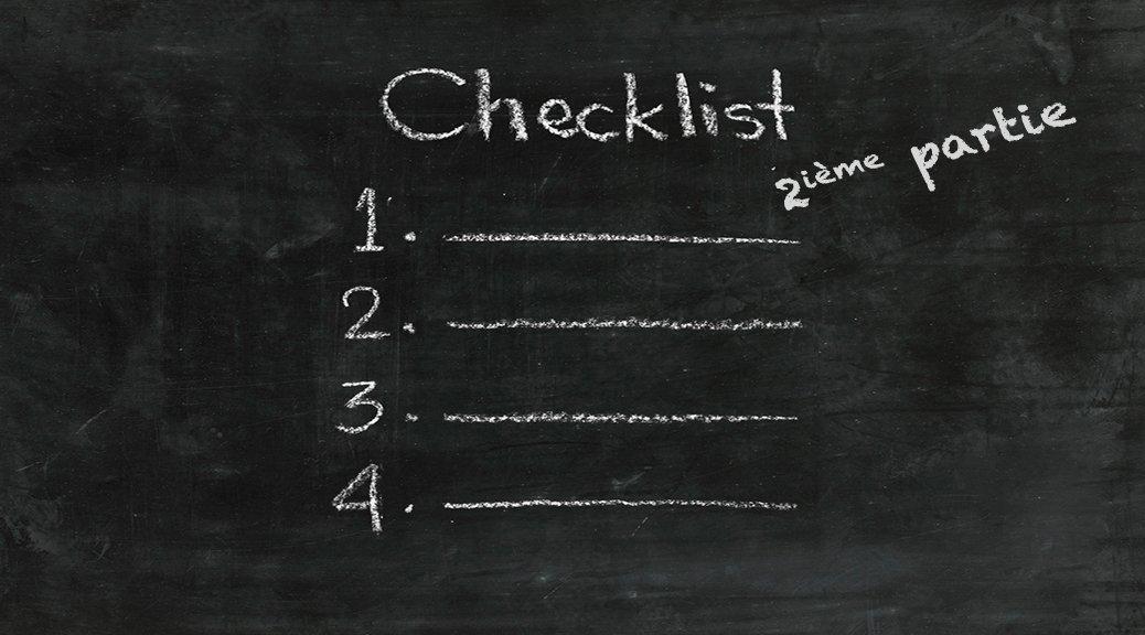 checklist sur tableau