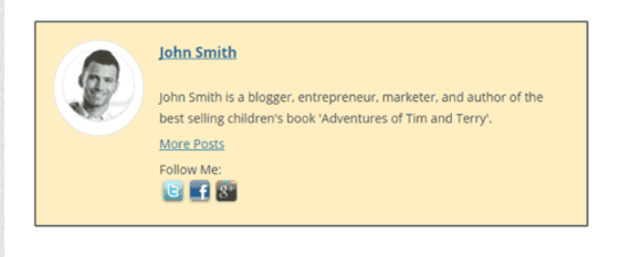 example of an author or bio box