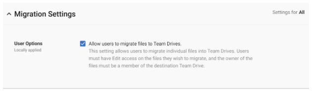 Migrar Archivos Google Drive