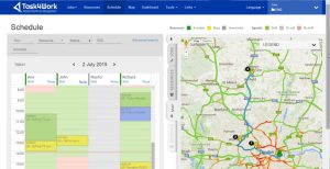 interfaz con mapa Task4Work