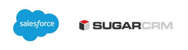 Logos de Salesforce y Sugar CRM