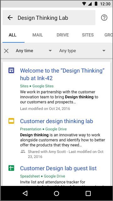 Búsqueda en sitios de Google
