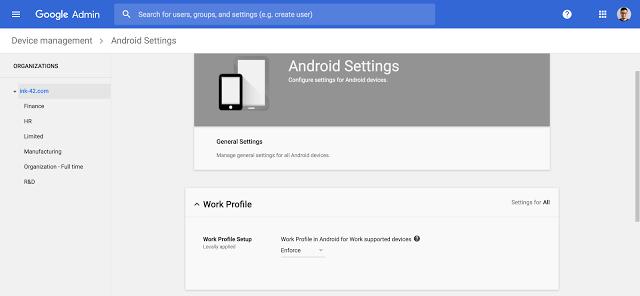 Perfiles de Trabajo Android