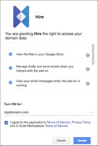Hire domain data