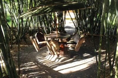 Bamboo circle table