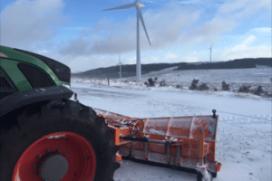 Local wind farm, Aberdeenshire Scotland Scott Innes, Scotplant Hire ltd