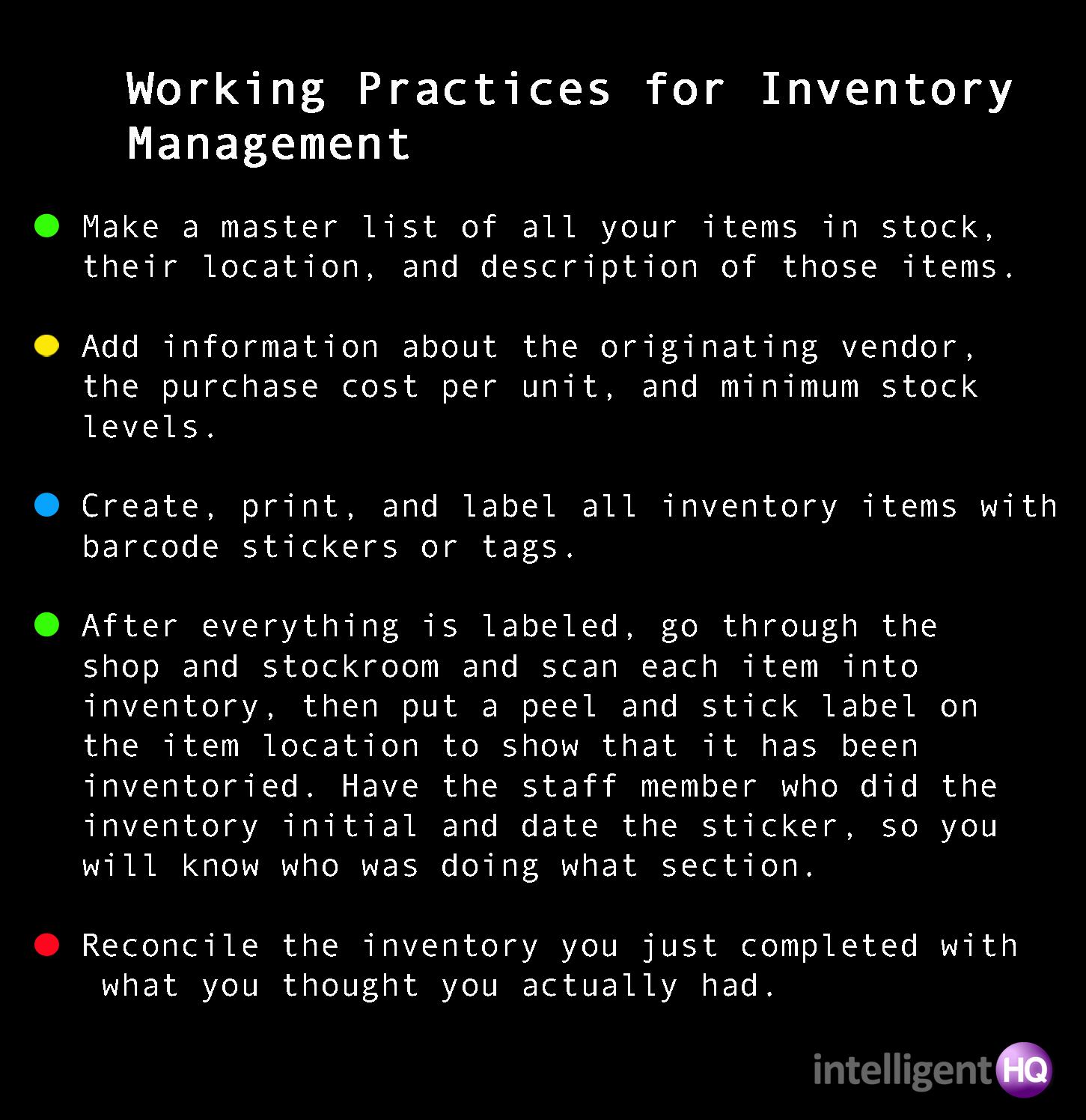 Working Practices for Inventory Management - IntelligentHQ