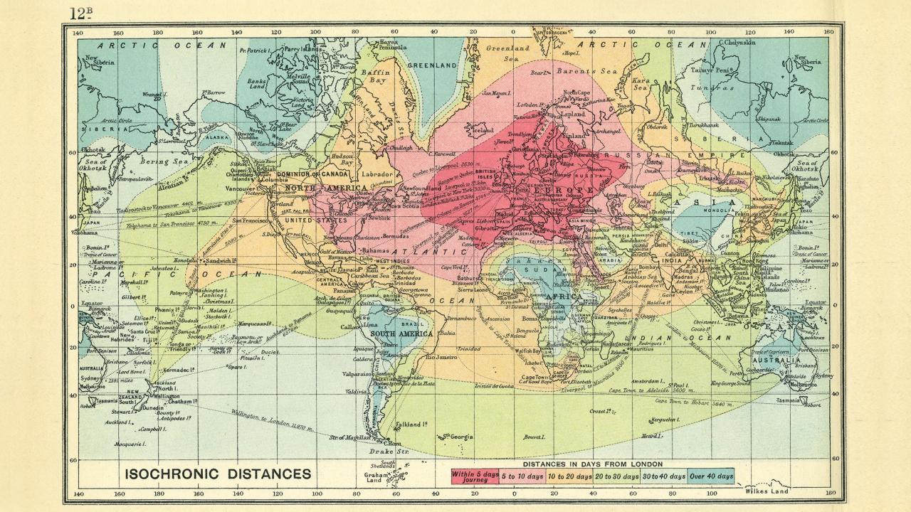 Eine Weltkarte Uber Die Reisezeiten 1914 Und 2016 Robyn Thinks