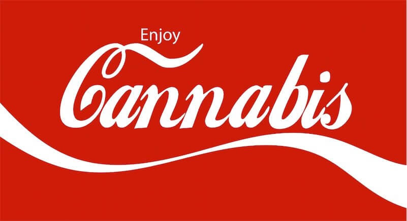 Enjoy Cannabis coca-cola image