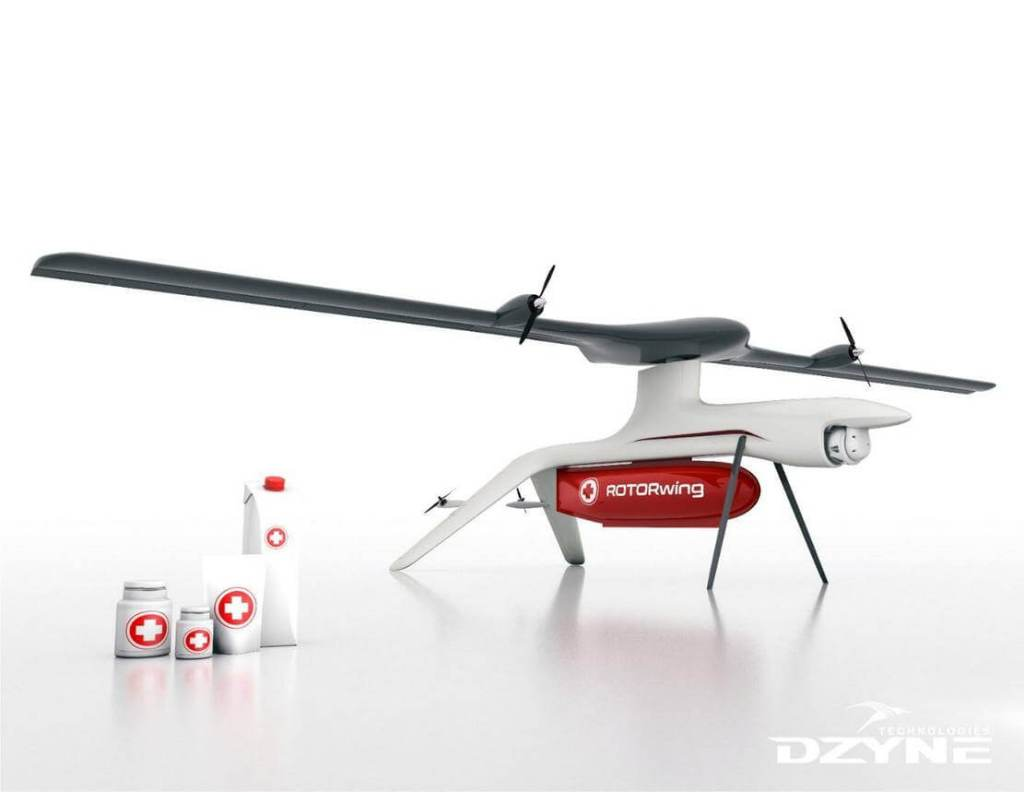 ROTORwing: First Of Its Kind VTOL With Wings That Are Also