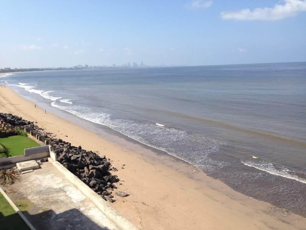 Cleaned beach