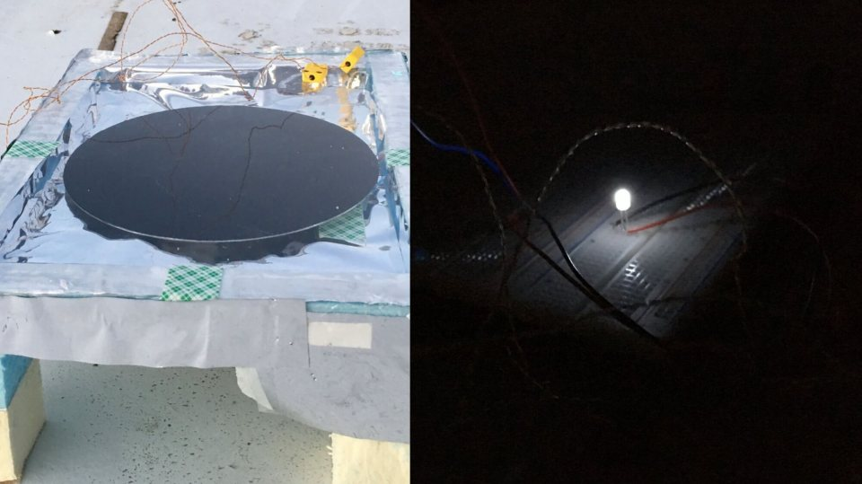 Anti-solar panel can generate electricity from darkness. Photo by Aaswath Raman