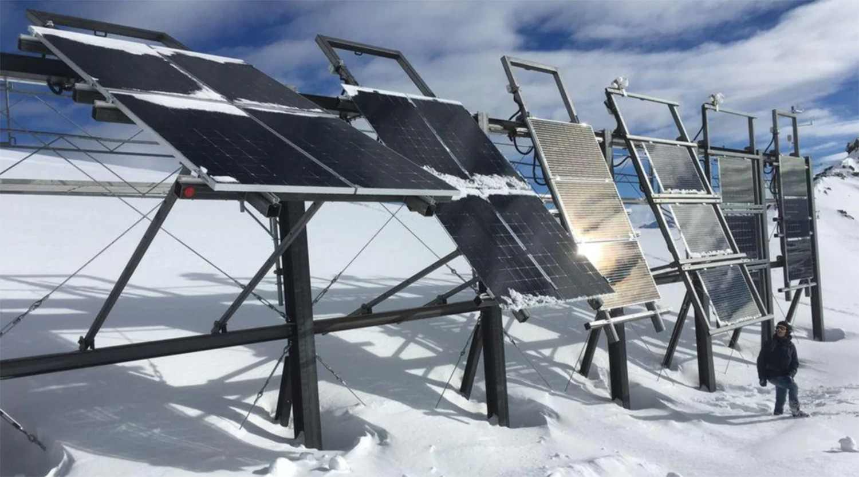 瑞士75%的电力来自可再生能源---瑞士阿尔卑斯山的太阳能生产。
