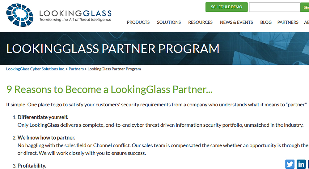 LookingGlass unveils new partner programme
