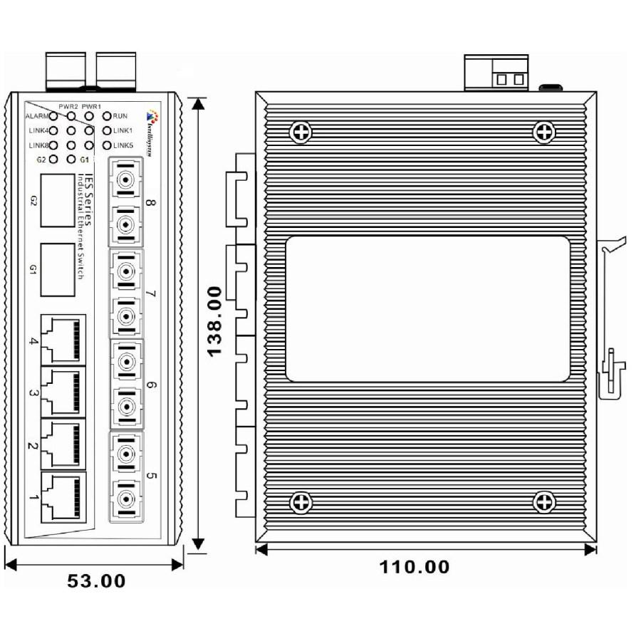 IT-ES7110-IM-2GS-4F | Intellisystem Technologies