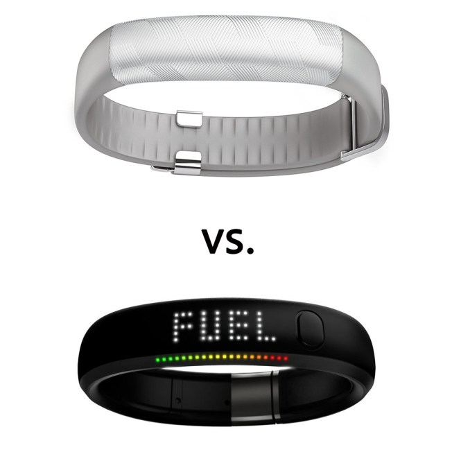 Nike Fuelband vs Jawbone Up Fitness Watch Comparison