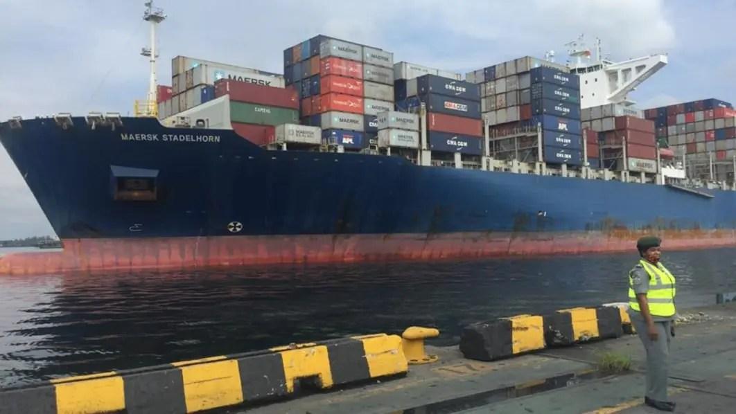 Biggest port vessel