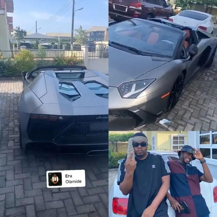 Olamide new Lamborghini