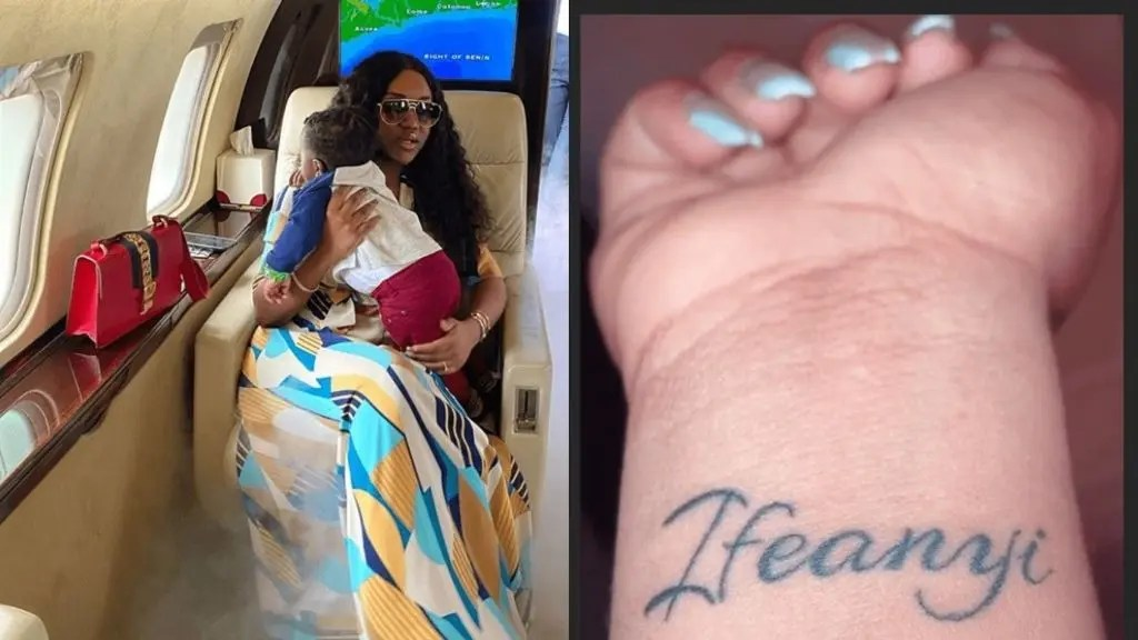 Davido's fiancee Chioma tattoos their son's name on her wrist