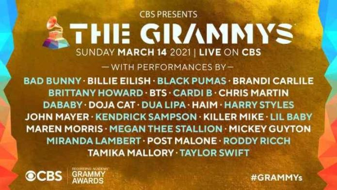 Grammy list of performance
