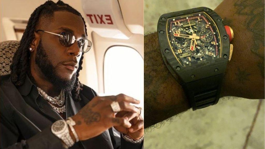 Burna Boy acquires Richard Mille wristwatch worth N208M (Photos)