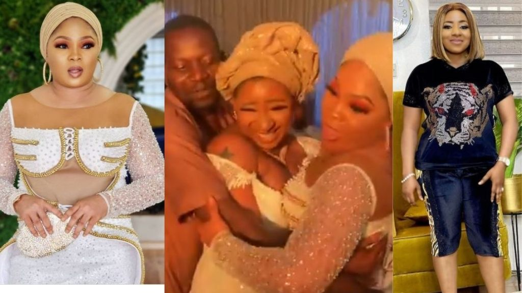 The moment actress, Regina Chukwu tries to snatch Mide Martins husband from her (Video)
