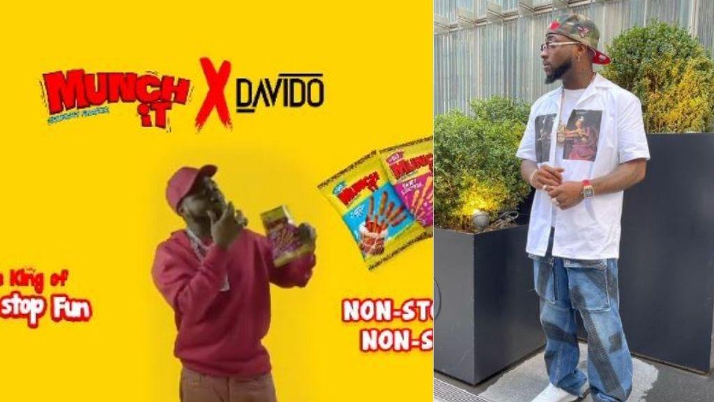 Davido becomes brand ambassador for Munch It Snack (Video)