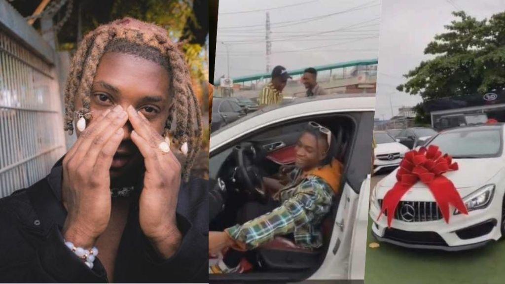 Singer, Bella Shmurda gifts himself a brand new Mercedes Benz (Video)