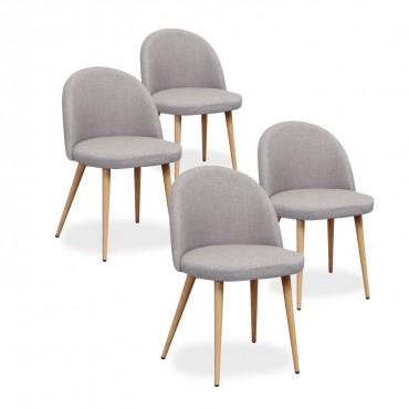 chaise scandinave tissu pas cher