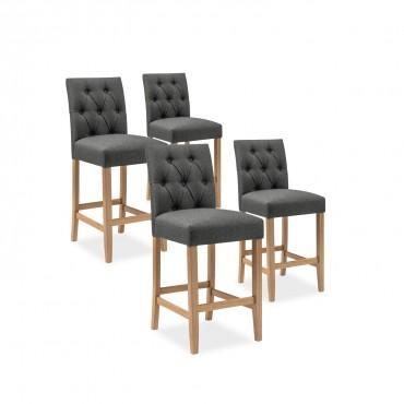chaise et tabourets de bar taupe pas cher