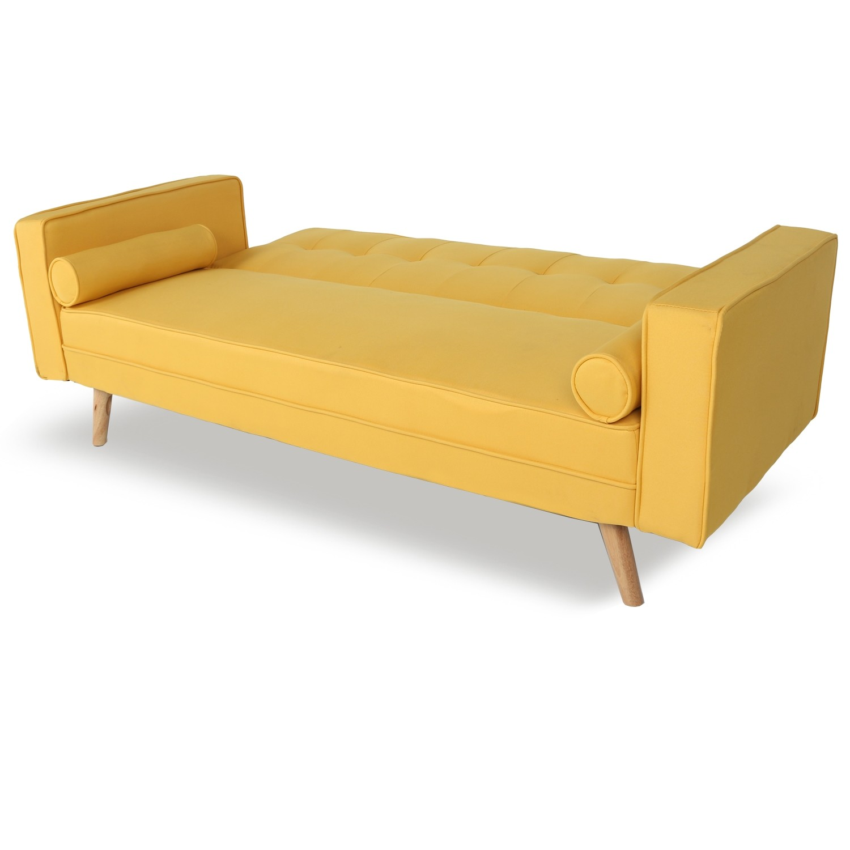 canape convertible scandinave tao tissu jaune