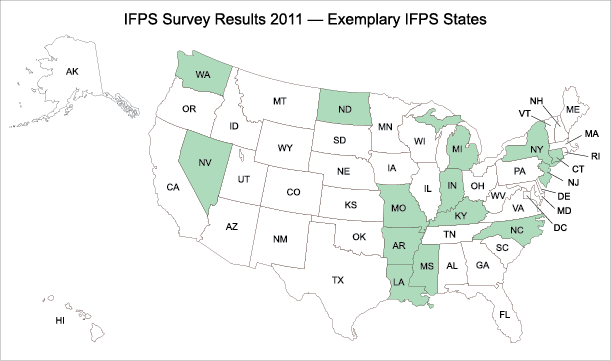 2011_IFPS_Survey_Exemplary_IFPS_Map