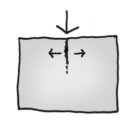 Grietas en muros y paredes. Grietas en caso de carga vertical puntual.