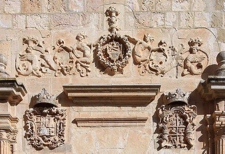 Detalle de la portada del Palacio de Núñez Cortés en Chinchilla.