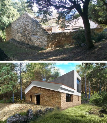 Rehabilitación de una construcción de piedra en Albacete como vivienda unifamiliar.