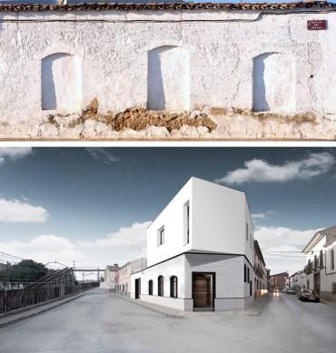 Rehabilitación de un edificio de tapial como vivienda en Albacete.