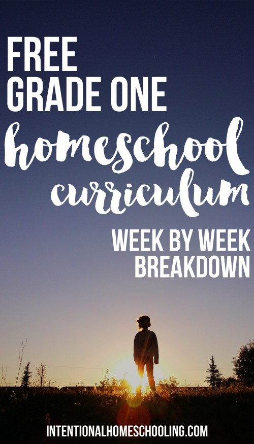 Our Homemade Grade One Homeschool Curriculum - Weekly breakdown - includes Bible, writing, reading, math, science, history, geography, art and music!