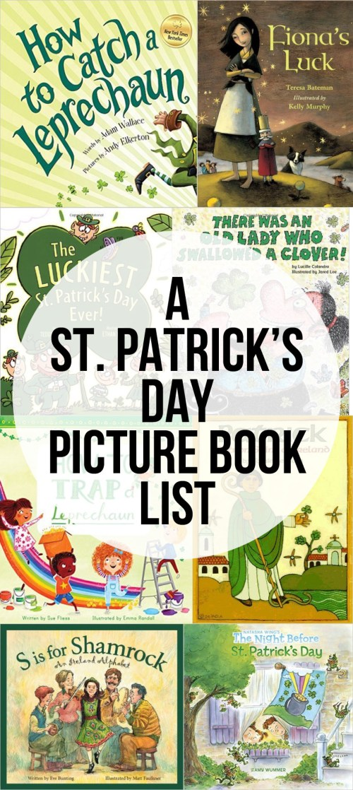 St. Patrick's Day Booklist - picture books plus a great book about Ireland and a book of fun limericks.